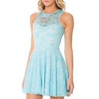 iBaste Reversible Skater Dress Zipper Front Summer Pleated Mini Dress Clubwear