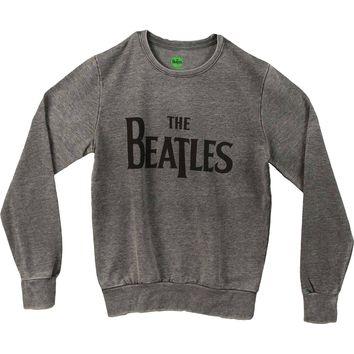 Beatles Men's  Drop T Sweatshirt Grey