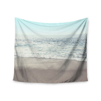 "Monika Strigel ""The Sea"" Blue Coastal Wall Tapestry"