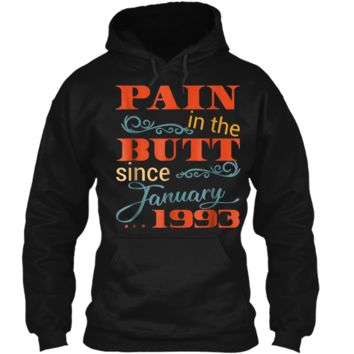 26th Bday Party  January 1993 26th Birthday Gag Gift Pullover Hoodie 8 oz