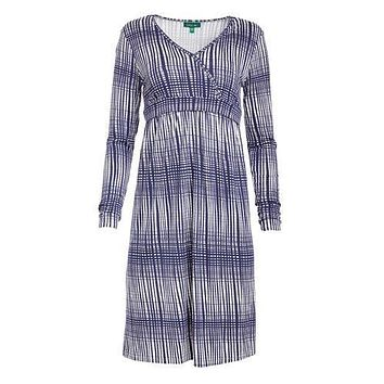 Jenny Stripe Surplice Neck Nursing Dress