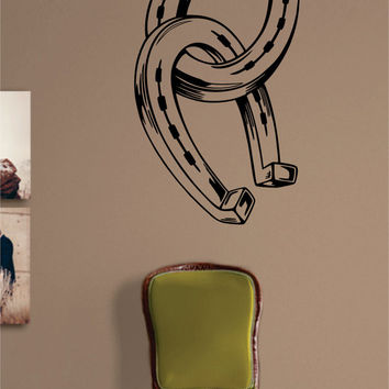 Horseshoes Horse Design Animal Decal Sticker Wall Vinyl Decor Art