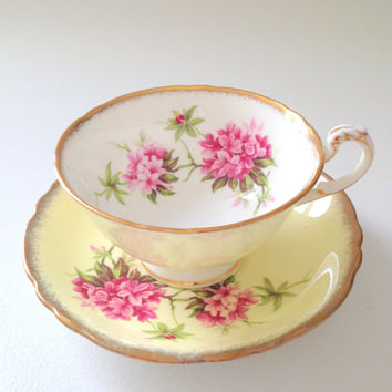 English Fine Bone China Paragon By Appointment to Her Majesty the Queen China Potters Teacup and Saucer - Ca. 1960's