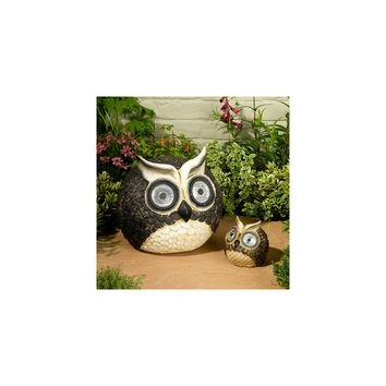 Smart Solar-Mother & Baby Solar Owl Accents