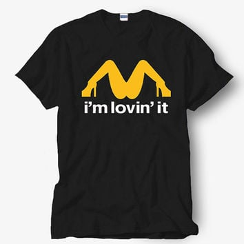I am lovin it Shirt, Black Shirt, Popular Shirt Hot Product On USA Size S-M-L-XL, Funny Shirt, Funny T Shirt, Humor t shirt