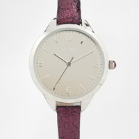 Oasis Purple Metallic Strap Watch