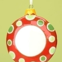 12 Christmas Ornaments - Blank Monogram Disk