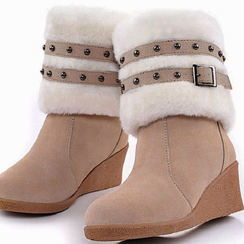 WEDGIE SNOW BOOTS - Can be worn at the ankle or at the knee