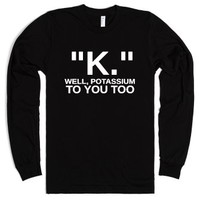 K Long Sleeve-Unisex Black T-Shirt