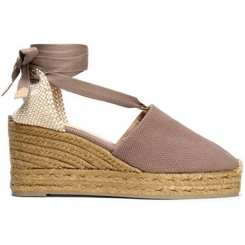 Woven and canvas wedge espadrilles | CASTAÑER | Sale up to 70% off | THE OUTNET