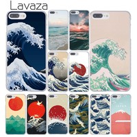 Lavaza Wave Art Japanese Green Illust Classic Hard Cover Case for Apple iPhone 8 7 6 6S Plus 5 5S SE 5C 4 4S X 10 Coque Shell