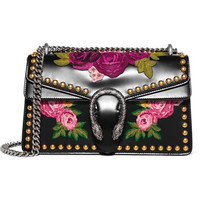 Gucci - Dionysus studded appliquéd leather shoulder bag
