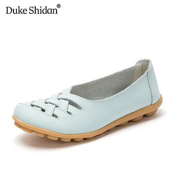 Women Sandals Summer Female Fashion Hollow Out Breathable Leather Nurses Working Gladiator Flats Shoes Casual Shoes DukeShidan