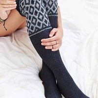 Pattern Slouch Over-The-Knee Sock- Grey One
