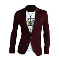 jeansian Men's Fashion Jacket Outerwear Tops Blazer 8981