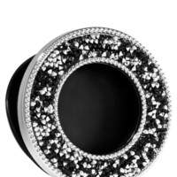 Scentportable Holder Black & Silver Rhinestones