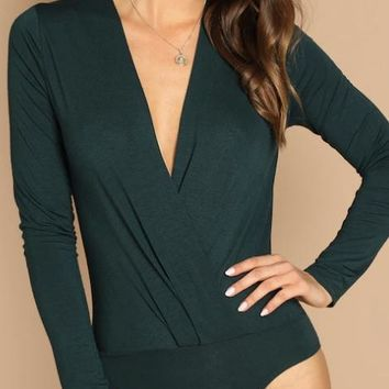 Elli Emerald Surplice Bodysuit