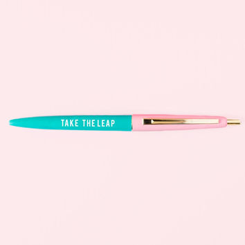 Take the Leap Pen in Blush Pink and Aqua