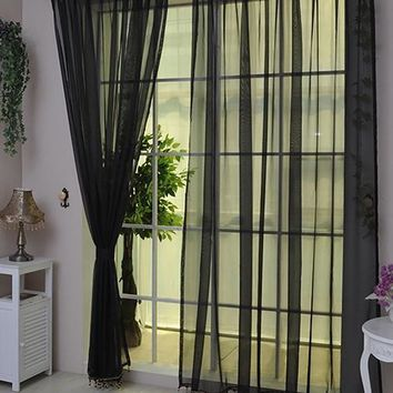 Lightweight Gauzy Valances Door Window Curtain Drape