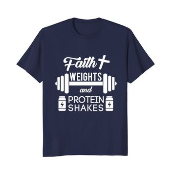 Faith Weights - Christian Gym Exercise Workout T-Shirt