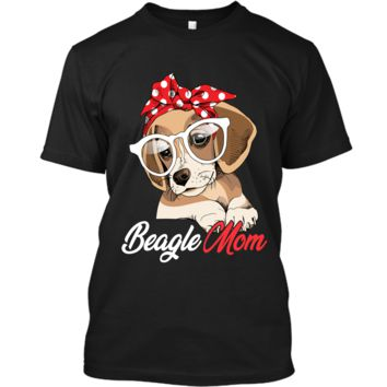 Beagle Mom Shirt for Beagle Dogs Lovers-Mothers Day Gift Custom Ultra Cotton