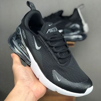 Nike Air Max 270 Black White Black Floral Running Shoes - Best Deal Online