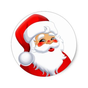 Mr.Santa Classic Round Sticker