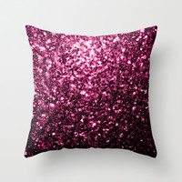 Beautiful Pink glitter sparkles Throw Pillow by PLdesign | Society6