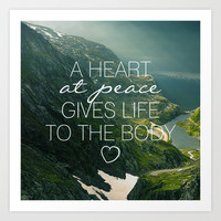 Heart at Peace Art Print by Pocket Fuel