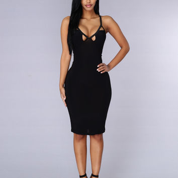 Mirror Image Dress - Black