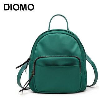 DIOMO 2017 Fashion Solid Color Mini Backpacks for Girls High Quality Oxford Cloth Small Backpacks for Women