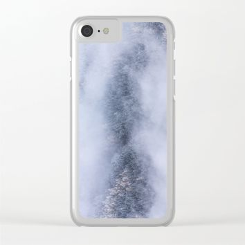 Beneath The Fog Clear iPhone Case by Mixed Imagery