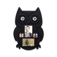 Decorative Black Plastic Owl Wall Hanging Collage Picture Photo Frame