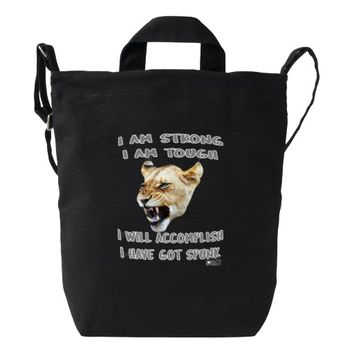 Spunk Quote by Kat Worth Duck Bag