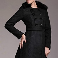 Classic Double-breasted A-line Coat