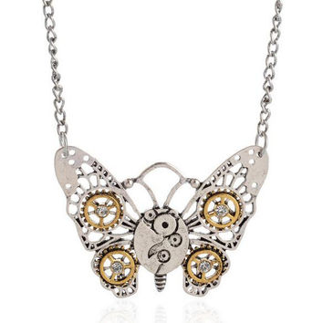 Steampunk RetroGear Necklace