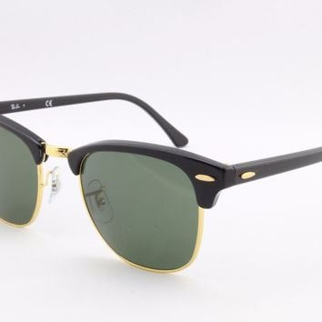 New Ray Ban Clubmaster RB3016 W0365 Designer Sunglasses Authentic Made In Italy