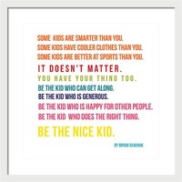 Be the nice kid #minimalism #colorful by Andrea Anderegg Photography