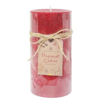 Chesapeake Bay Candle Harvest Cider 3'' x 6'' Pillar Candle (Red)
