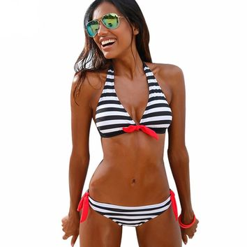 Striped Elegant Bikini Swimsuits