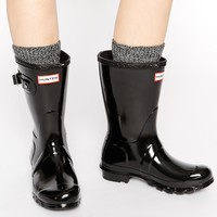 Hunter Original Black Gloss Short Wellington Boots