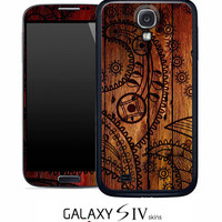 Tattooed Wood Skin for the Samsung Galaxy S4, S3, S2, Galaxy Note 1 or 2