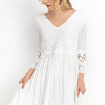 Stolen Moments Embroidered Dress