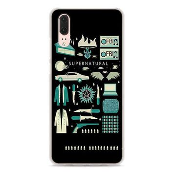 BiNFUL Supernatural TV show style hard clear Phone Case for Huawei P20 P20Lite P10 Lite P8 P9 Lite 2017 P Smart