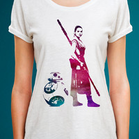 Star Wars Rey Shirt, BB8 Shirt, Star Wars Women Shirt, Star Wars Rey and BB8 Shirt, Star Wars Funny Shirt, Rey Shirt, BB8 shirt, Star Wars