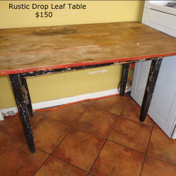 Rustic Drop Leaf Table