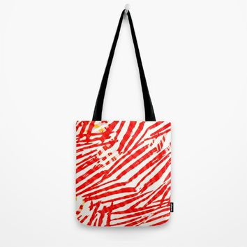 let's go a red blood trip Tote Bag by hardkitty