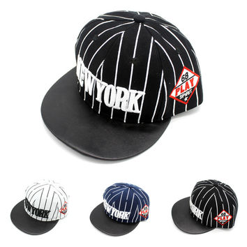 Korean Hip-hop Stylish Stripes Embroidery Alphabet Baseball Cap Hats [4917729412]