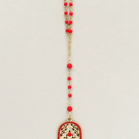 Royal Red Hamsa Necklace