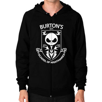 Love nightmare before christmas Zip Hoodie (on man)